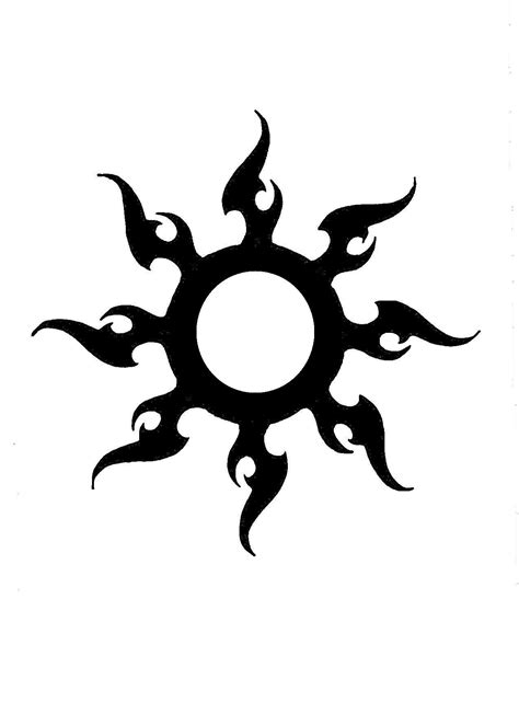 tribal tattoos sun tribal sun 2 by eviltank on deviantart