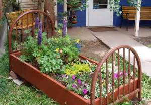 Bed Frame Garden Ideas Recycling Wood Beds For Yard Landscaping And