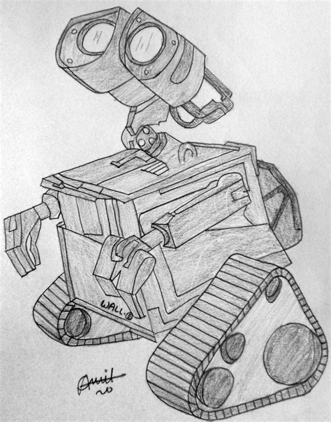 Wall E Sketches by Wall E Black On White