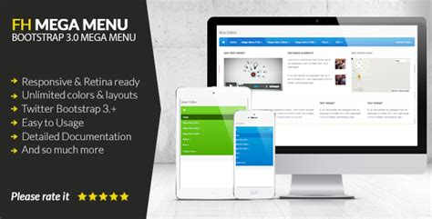 fh mega menu jquery bootstrap 3 mega menu plugin by