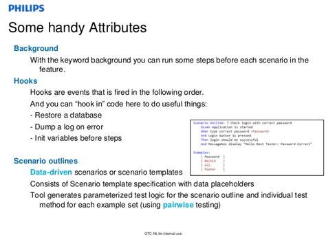 scenario template cucumber behavior driven development with specflow