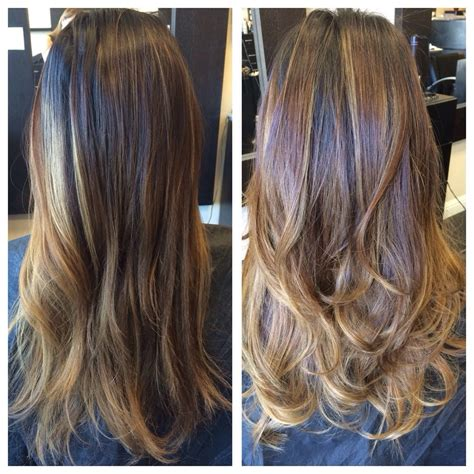 balayage highlights before and after home kit before and after added balayage and cut hair feels