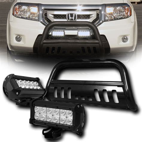 Toyota Tacoma Led Light Bar 05 15 Toyota Tacoma Front Bumper Bull Bar 36w Cree Led Fog Lights Black