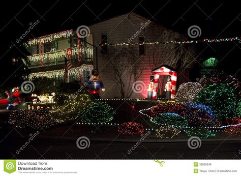 seattle christmas lights neighborhoods lights house stock photo image of 35830946