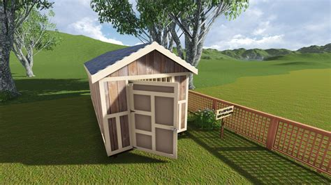 gable barn plans 8x20 gable storage shed plan
