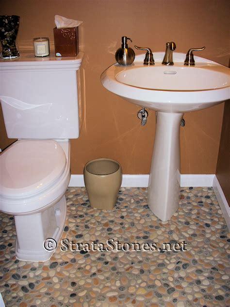 Pebble Tile Bathroom Floor by Bathroom Re Do The Before Run Angie Mae Run