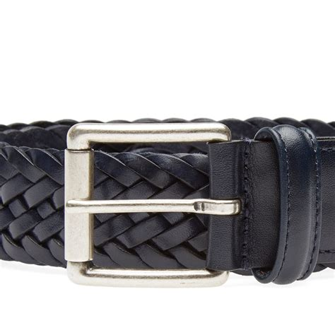 Woven Belt s woven leather belt navy
