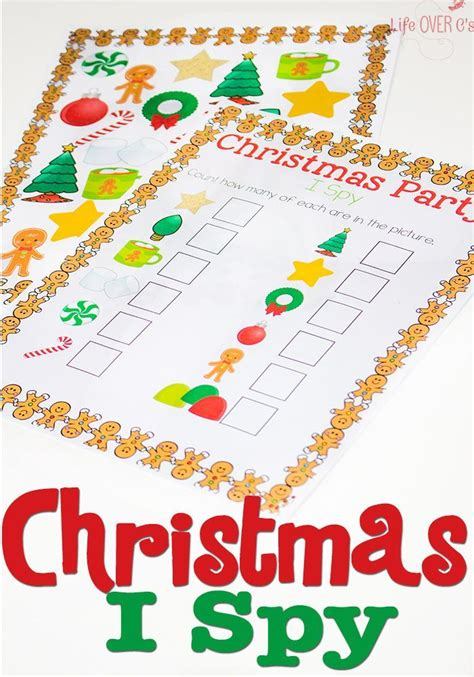 christmas  spy  printable activity preschool christmas christmas activities  kids