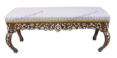 moroccan benches moroccan mother of pearl bench from badia design inc