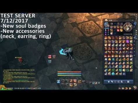 New Soul 7 new soul badges accessories necklace earring ring on test server 7 12 2017