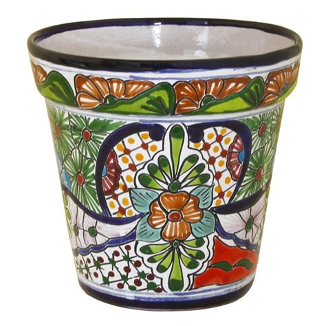 Mexican Planters Large by Large Talavera Planter