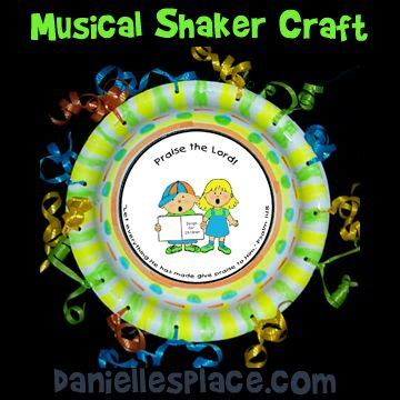 Paper Plate Crafts For Sunday School - paper plate craft praise shaker bible craft from www