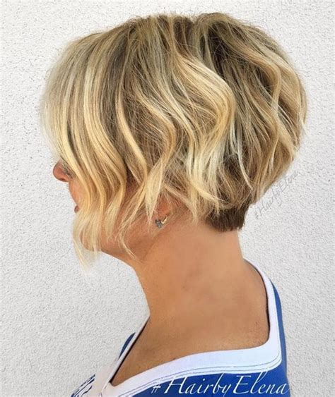 how to style hair that is shorter in the back than the front 50 most delightful short wavy hairstyles