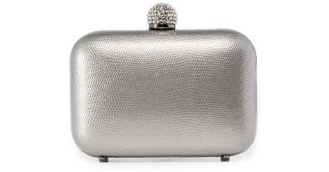 Inge Patent Leather Clutch by Lyst Inge Christopher Fiona Leather Clutch