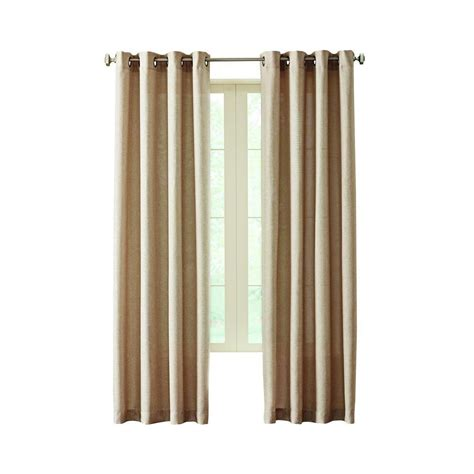curtains at home depot home decorators collection linen hudson grommet curtain