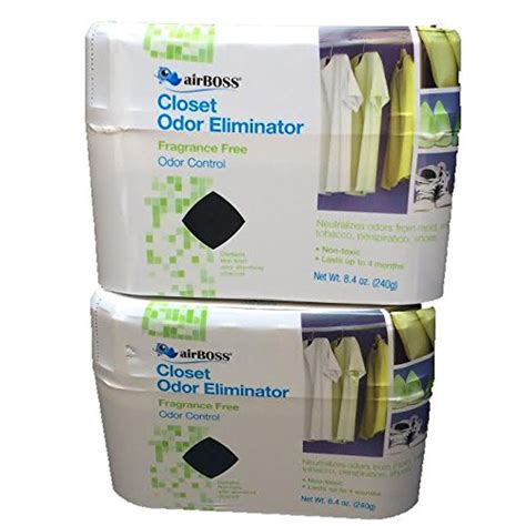 Closet Fragrance airboss closet odor eliminator fragrance free odor non toxic lasts 4 months total 2
