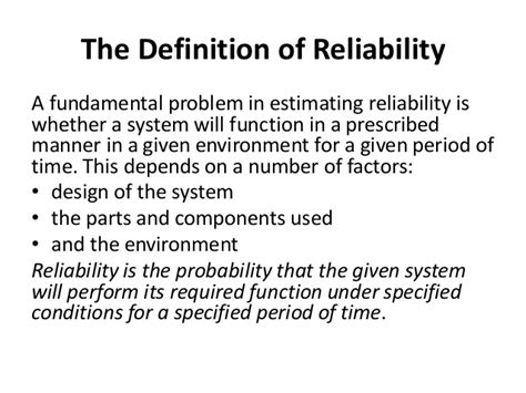 design period meaning basic concepts of reliability