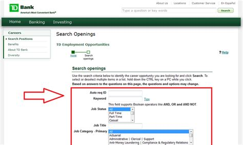 td bank employment how to apply for td bank at tdbank careers