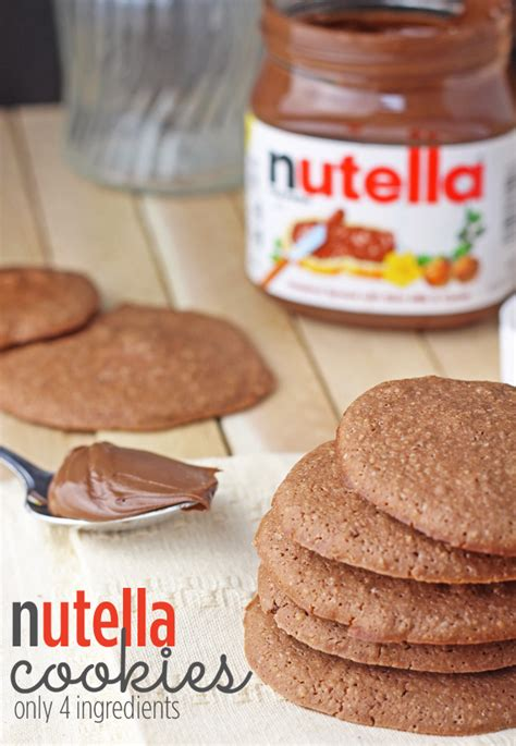 easy nutella cookies recipe only 4 ingredients
