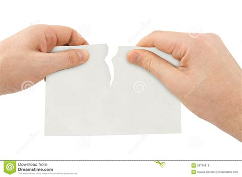 How To Make Tear Paper - tear paper stock photo image of dividing solution