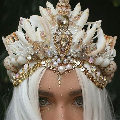 Handmade Crown - 27 year uses real seashells to made eye catching