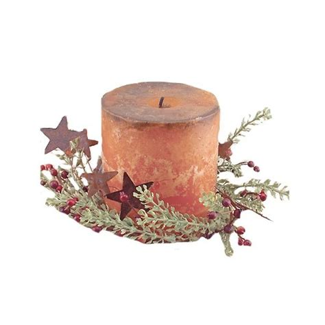 cwi gifts rosehip and herb candle ring with stars 4 inch