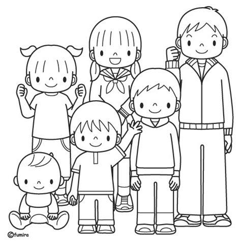 imagenes para colorear la familia la familia laminas para pintar