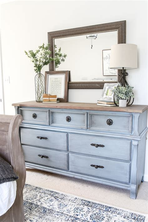 blue cottage style guest bedroom makeover reveal cottage