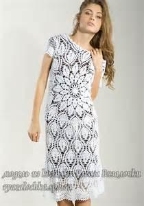 красивые вязаные платья крючком для женщин