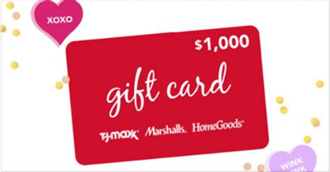 Home Good Gift Card - tjx rewards access something sweet instant win game