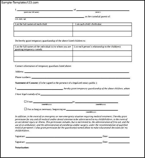 consent letter format for residential proof sle parents consent letter template for travel pdf