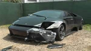Lamborghini Smashed Crashes And Abandons 220k Lamborghini On The