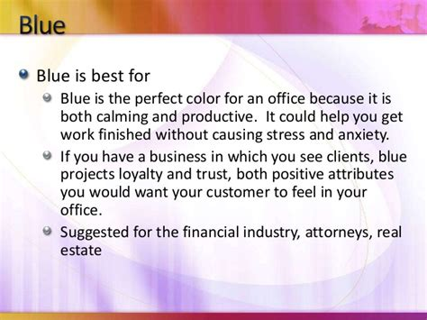 how to choose the right colors for your office or business