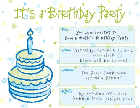 Contoh Invitation Letter About Birthday Geo Printing Communication Birth Day Hakika Invitation Cards
