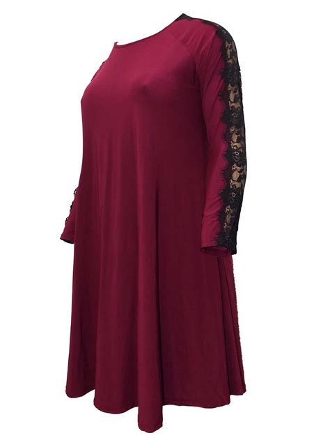 swing dress size 24 gemma collins for evans plus size 18 20 22 24 burgundy