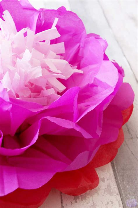 Flower With Tissue Paper - how to make tropical tissue paper flowers 187 the purple