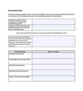 evacuation plan template sle evacuation plan template 9 free documents in pdf