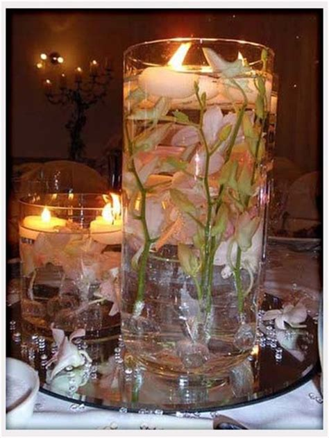 centerpieces ideas center pieces candles flowers feathers whimsical