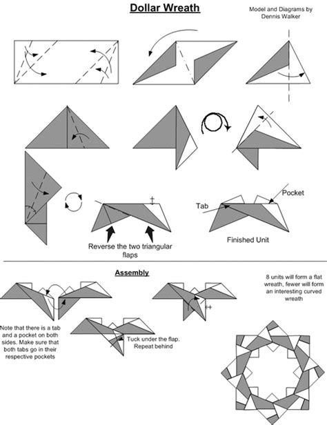 origami wolf tutorial origami dollar wreath folding origami