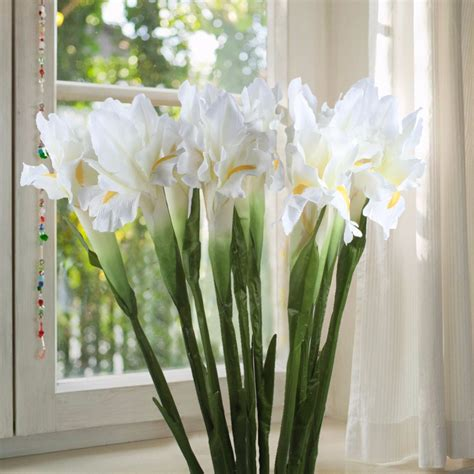 artificial flower decoration for home 20pcs artificial flower iris decorative fake flowers
