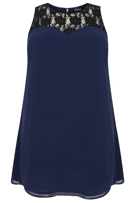 navy swing dress navy sleeveless swing dress with lace yoke plus size 16 18
