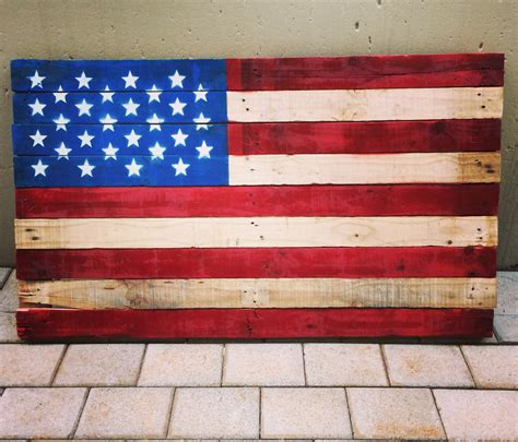 American Flag Pallet Template For Pallet Flag