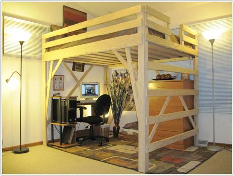 adult queen loft bed queen size loft beds for adults uncategorized interior
