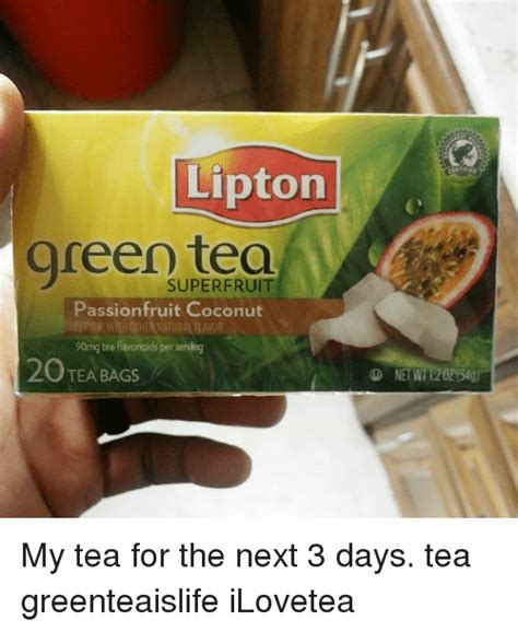 Tea Bag Meme - lipton green tea passion fruit coconut 90mg tea flavonoids