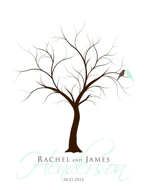 guestbook tree template new 159 fingerprint tree wedding guest book