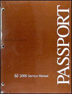 online auto repair manual 2000 honda passport navigation system 2000 honda passport repair shop manual original