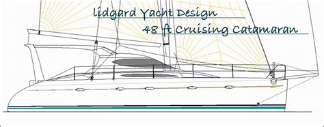 catamaran study plans lidgard yacht design 48 ft catamaran multihull study plan