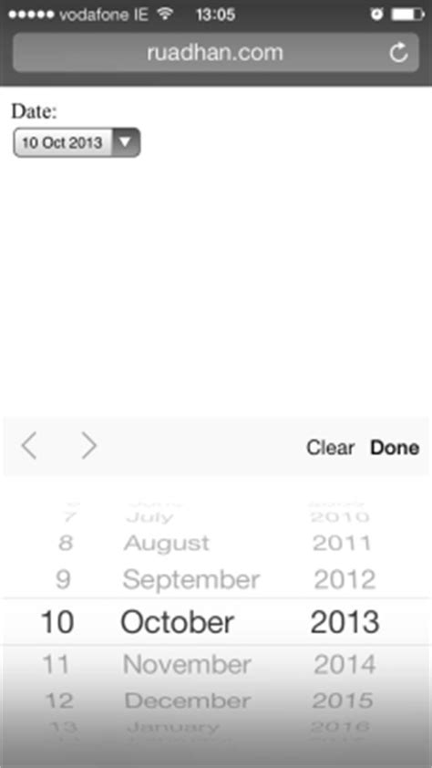html input pattern ios html5 for the mobile web forms and input types mobiforge