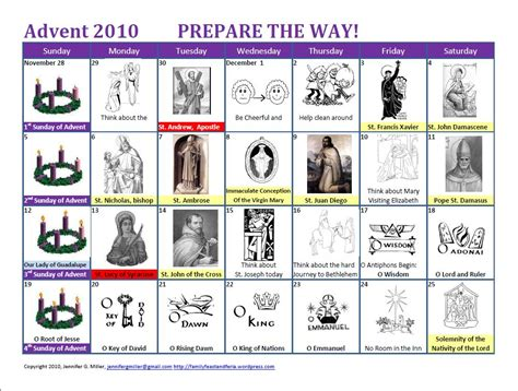 printable advent calendar catholic my little advent updated for 2015 family in feast and