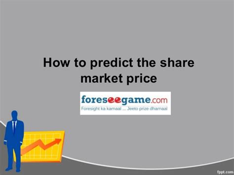 how to predict the market price